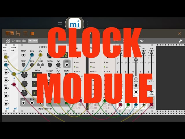 miRack AUv3 - Tutorial: Exploring the app Part 2, Clock module