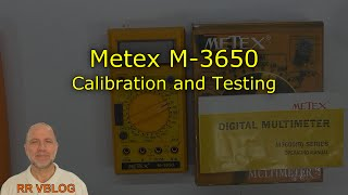 Multimeter Calibration, Metex M-3650 (1989)