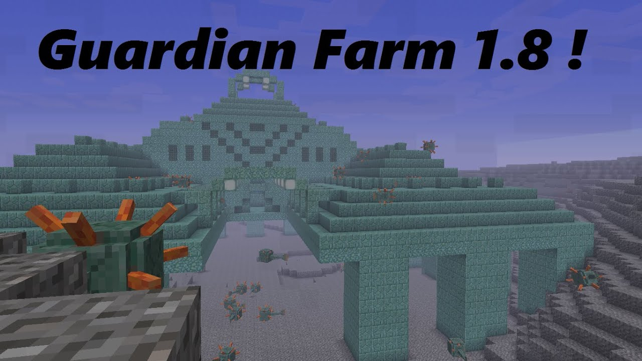 how to make a guardian in minecraft