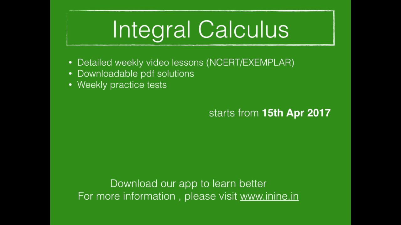CBSE Class 12 - NCERT Book Solutions - Integral Calculus