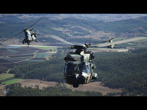 ARH Tiger & MRH Taipan Helicopters - Australian Army + Airbus