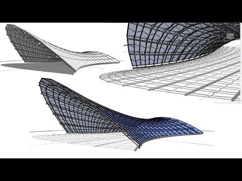 BIM - Revit 3D Organic Form 03 Tensile Structure