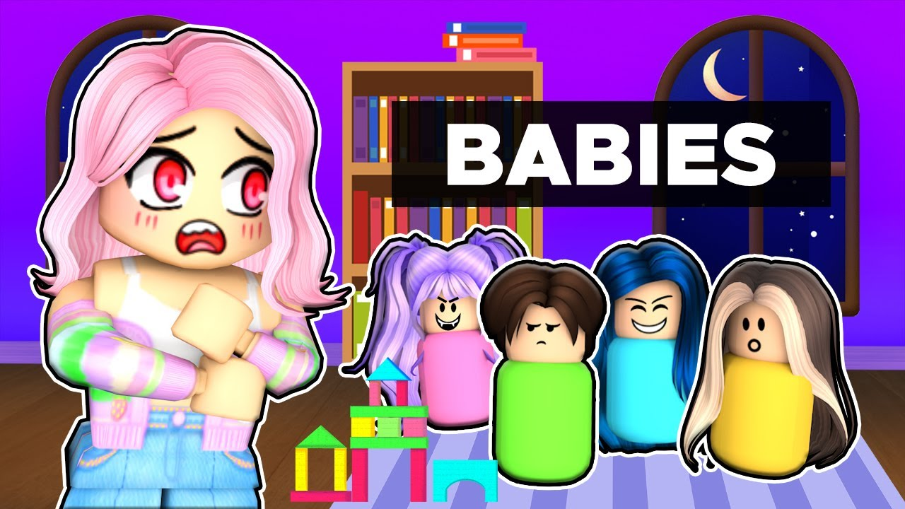 Adopting our first BABY in Roblox!