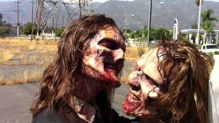 The Scream Team | Zombie Wedding Couple | out takes | foam latex appliances | zombie makeup