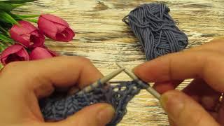 Очень лёгкий способ вязания английской резинки