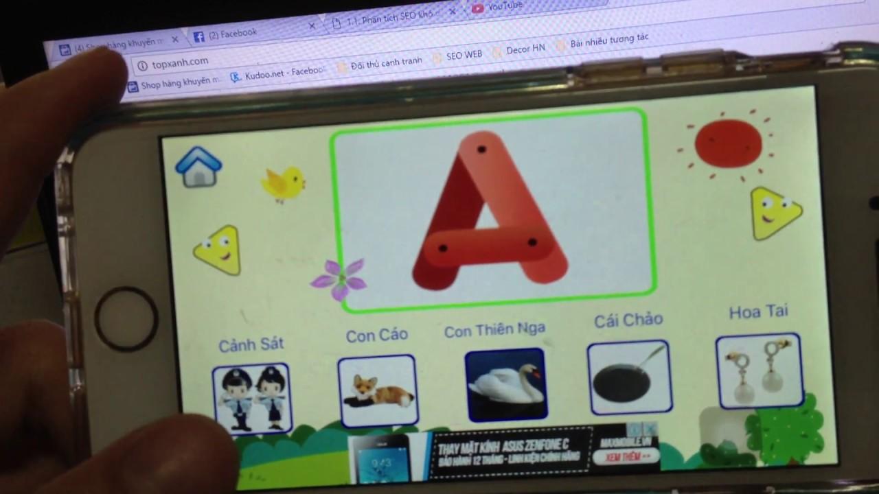 Phần mềm dạy bé học chữ cái