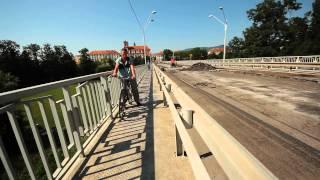 Tyršův most Litoměřice - vedení kola v době generální opravy na každodenní cestě z práce