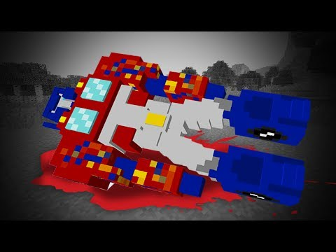 TRANSFORMERS OPTIMUS PRIME DIES! | TRANSFORMERS MINECRAFT MOD | Transformer The Last Knight