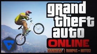 DAREDEVIL! RAMPAS + MOTOS JUGANDO CON SUBS | GTA V ONLINE CARRERA ( PS4 )