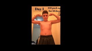 100 push ups a day for 30 days results ( Home body transformation) (Motivational)