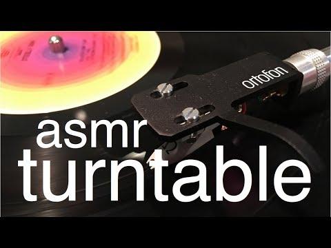 ASMR Turntable (pointing, mechanical sounds, soft spoken)