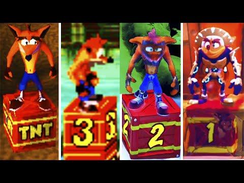 Evolution Of Crash Bandicoot TNT Deaths (1996-2021)