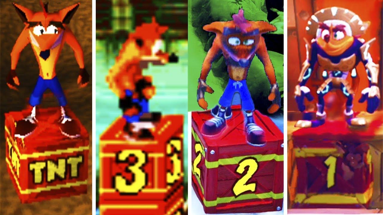 Evolution of Crash Bandicoot TNT Deaths (1996-2020)
