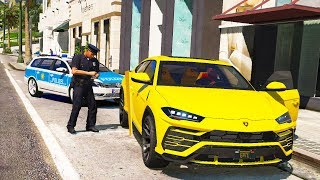 Polizei kontrolle im Lamborghini SUV!