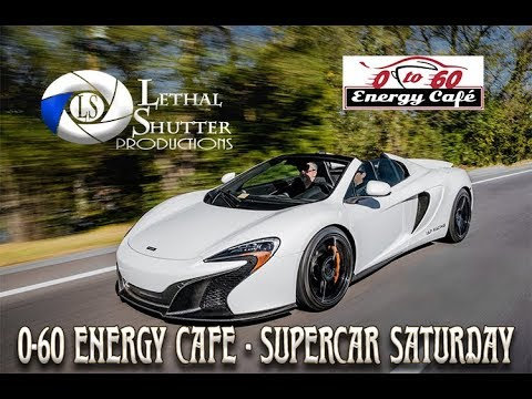 Cars and Coffee Supercar Cruise - 0-60 Energy Cafe Cars and Coffee
