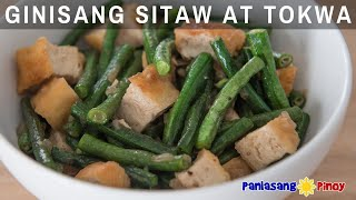 Ginisang Sitaw at Tokwa in Oyster Sauce