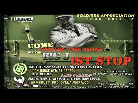 Ft Carson(Soldiers Appreciation Tour)/Armbrust Pro Gym(Workout) Colorado - August 20-21st!!