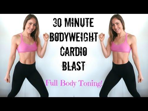 30 Min No Equipment Cardio Blast | Full Body Toning | 400 Calorie Burn