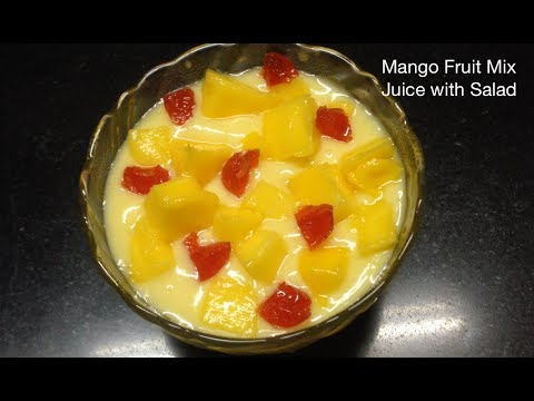 Mango Fruit Mix Juice Salad