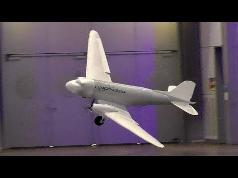Giant Lightweight 240 Gram Rc Douglas Dc 3 Helium Scale Model Airplane Indoor Demo Flight