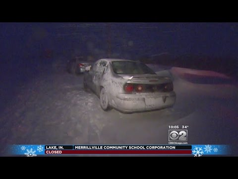 Winter Storm Leaves Dozens Of Cars Stranded In Crown Point, Ind.