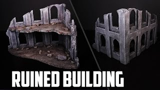 Cheap & Easy Warhammer 40k Building Ruins - Foam Board Basic