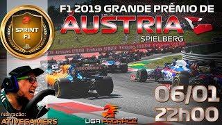 F1 2019 ESPORTS | GRANDE PRÊMIO DA ÁUSTRIA | F1 2019 PS4 SPRINT | LIGA PRO RACE ESPORTS