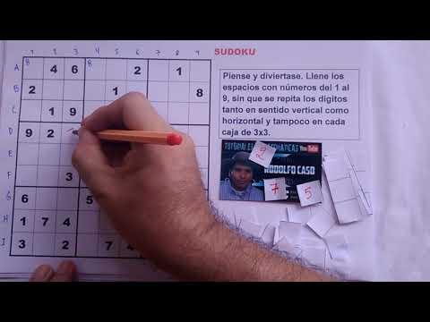 (1) Cómo resolver un SUDOKU. NIVEL DIFICIL.
