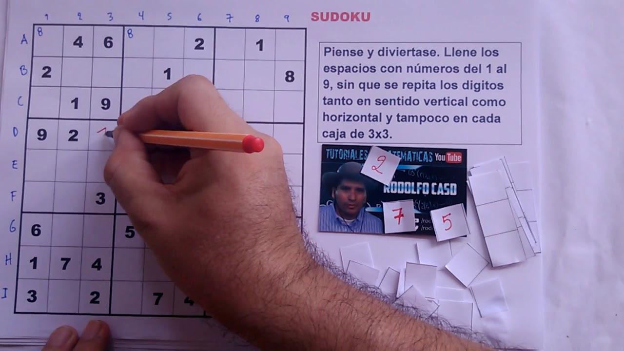 1 Cómo Resolver Un Sudoku Nivel Muy Fácil Youtube