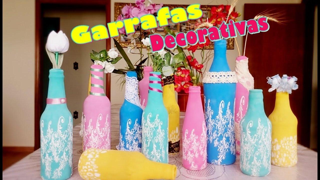Diy garrafas decorativas super f ceis com bixiga - Fotos de chimeneas decorativas ...