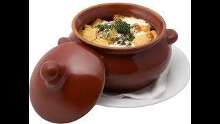 Жаркое в горшочках из курицы с картошкой и черносливом