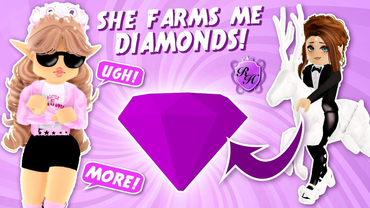 I Forced My Friend to Farm Diamonds for Me in Roblox Royale High...
