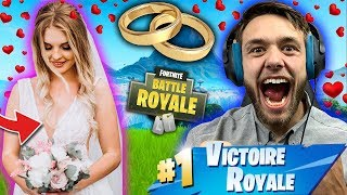A FILLE me 'DRAGUE' we 'MARIE' together on fortnite, but here's what happened...