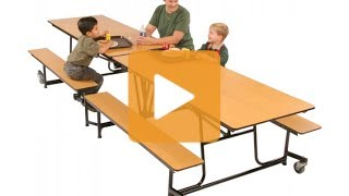 Mobile Cafeteria Table - Hertz Furniture