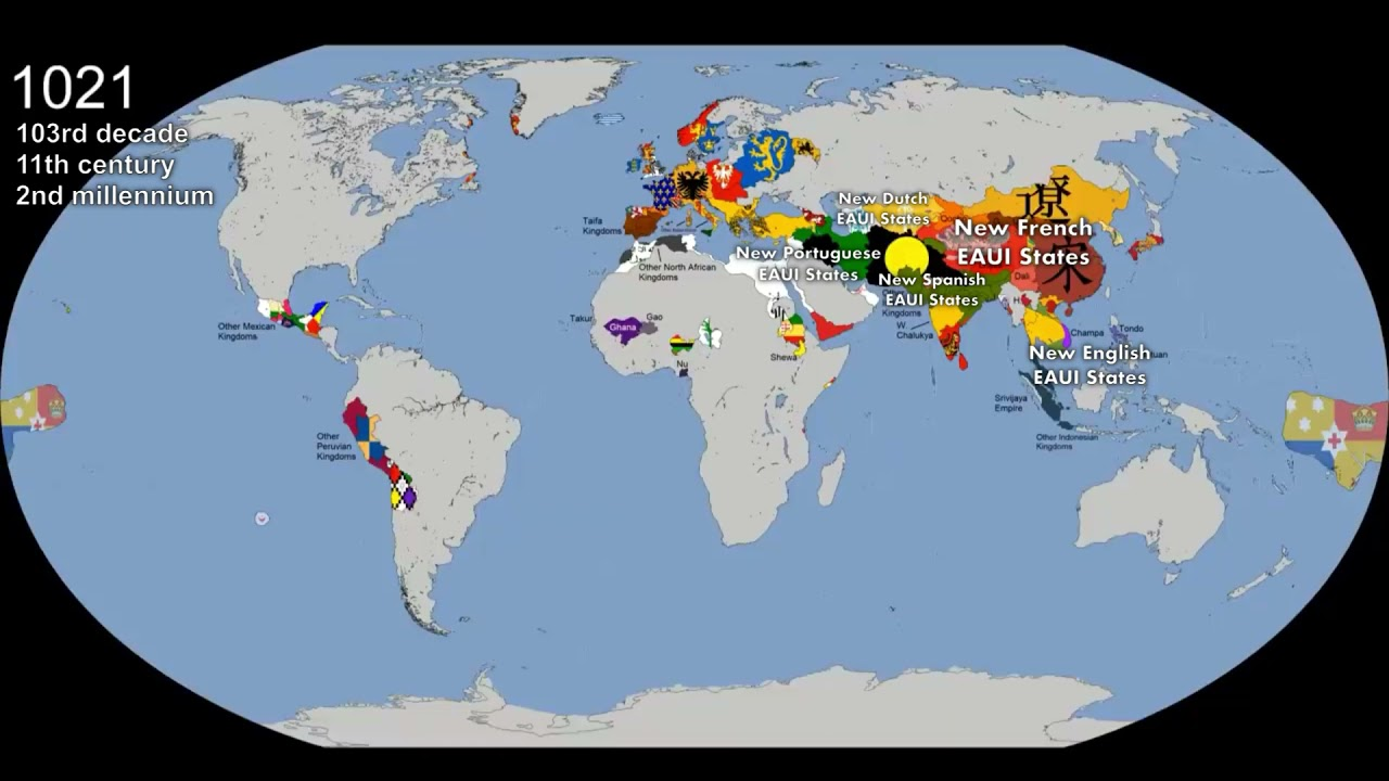 Download The World: Timeline of National Flags: 1019 - 2020 (Every Chronology + New EAUI States)
