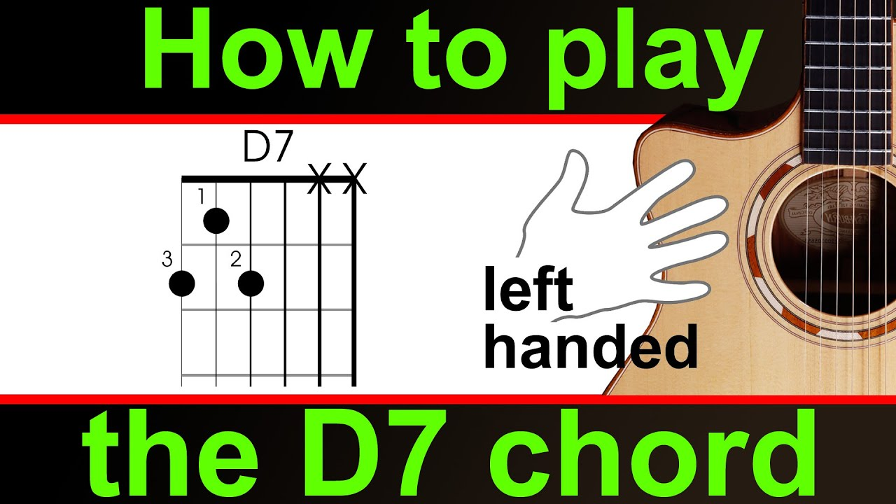 Left Handed Guitar Lesson How To Play D7 Or D Dominant 7th Youtube