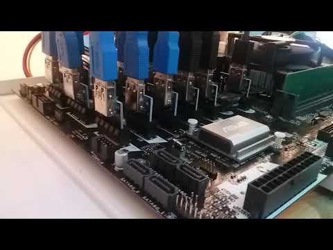 World's Fastest? Single Motherboard Mining Rig B250 Expert 19x GPU