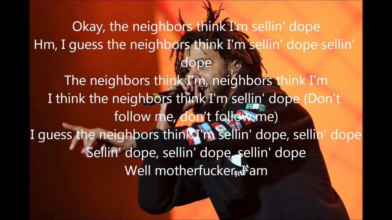 J. Cole - Neighbors - Lyrics - YouTube