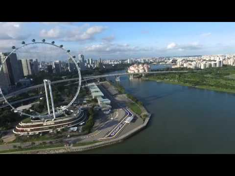 Quick edit of Aerial view of singapore's Bay Area