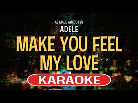 Make You Feel My Love (Piano Version) KARAOKE - Adele