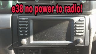 2000 BMW 740iL Radio Problems (help)