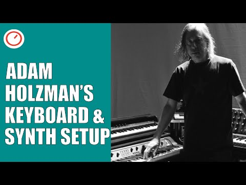 Adam Holzman's Keyboard & Synthesizer Rig On Tour With Steven Wilson