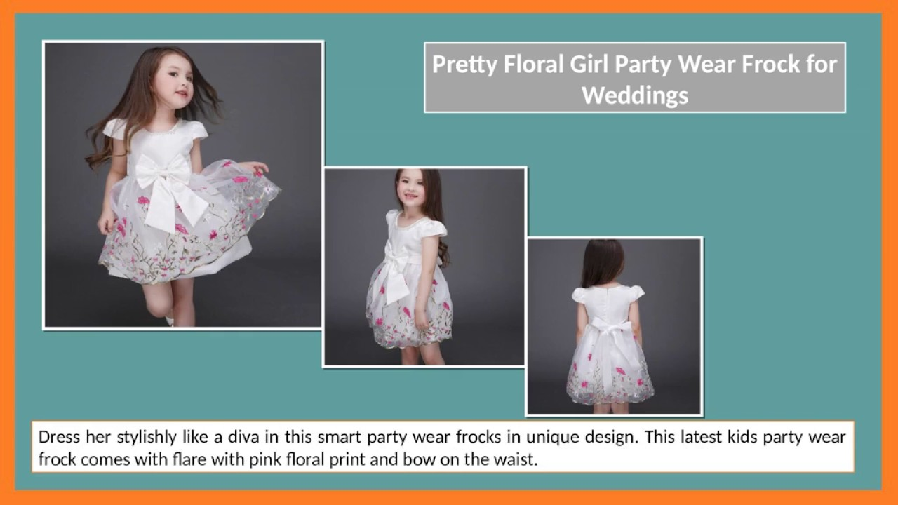 New Style Kids Indian Party Wear Frocks and Dresses for Baby Girls ...