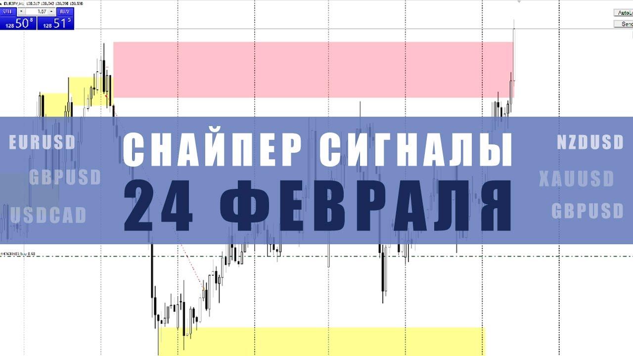 СИГНАЛЫ СНАЙПЕР НА 24 ФЕВРАЛЯ | Трейдер Юрий Антонов