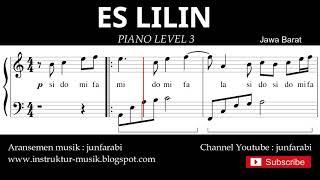 notasi balok es lilin - piano grade 3 - lagu daerah jawa barat - instrumental