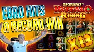 RECORD WIN BUFFALO RISING - Huge win on Casino Game - free spins (Online Casino)