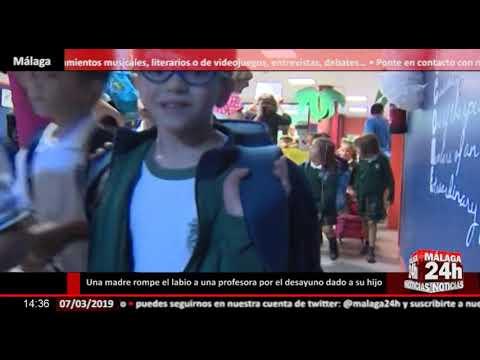Noticia - Una madre rompe el labio a una profesora en Málaga por el desayuno andaluz dado a su hijo