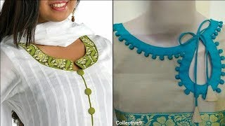 Simple Neck Designs | New Churidar neck patterns
