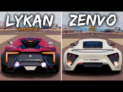 Battle !   Lykan HyperSport vs Zenvo ST1   Forza Horizon 3