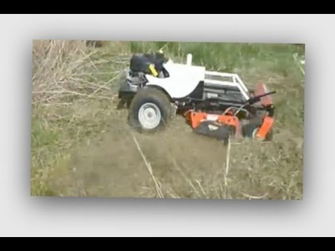 Test Run Of A Homemade 4wd Remote Control Mower(自作4wdラジコン